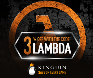 3% off any product on Kinguin with code LAMBDA