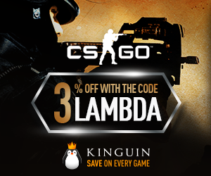 3% off CS:GO items with code LAMBDA