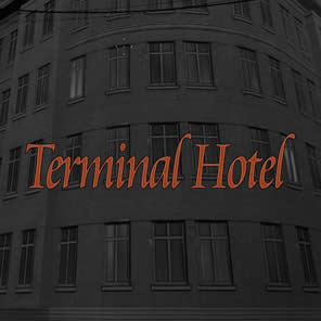 Terminal Hotel - A great place to stay, although our courtyard is full of hoppers.