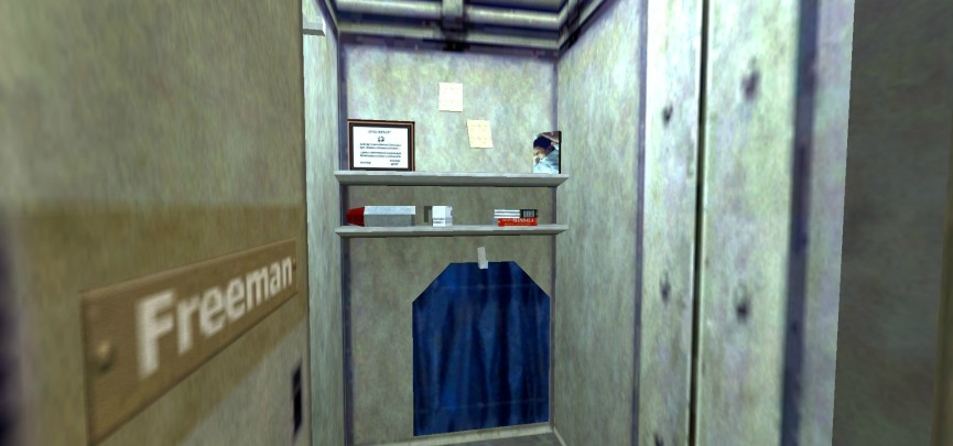 The Girl In Gordon's Black Mesa Locker Is 14 Years Old, Today
