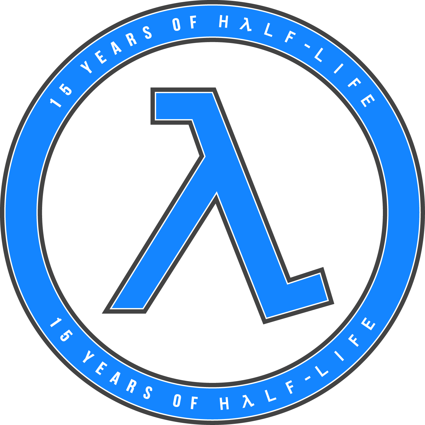 15 Years of Half-Life Logo - Blue