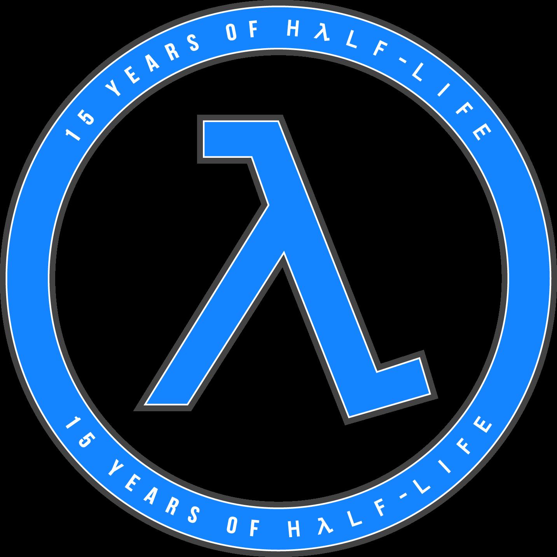 15 Years of Half-Life Logo - Blue