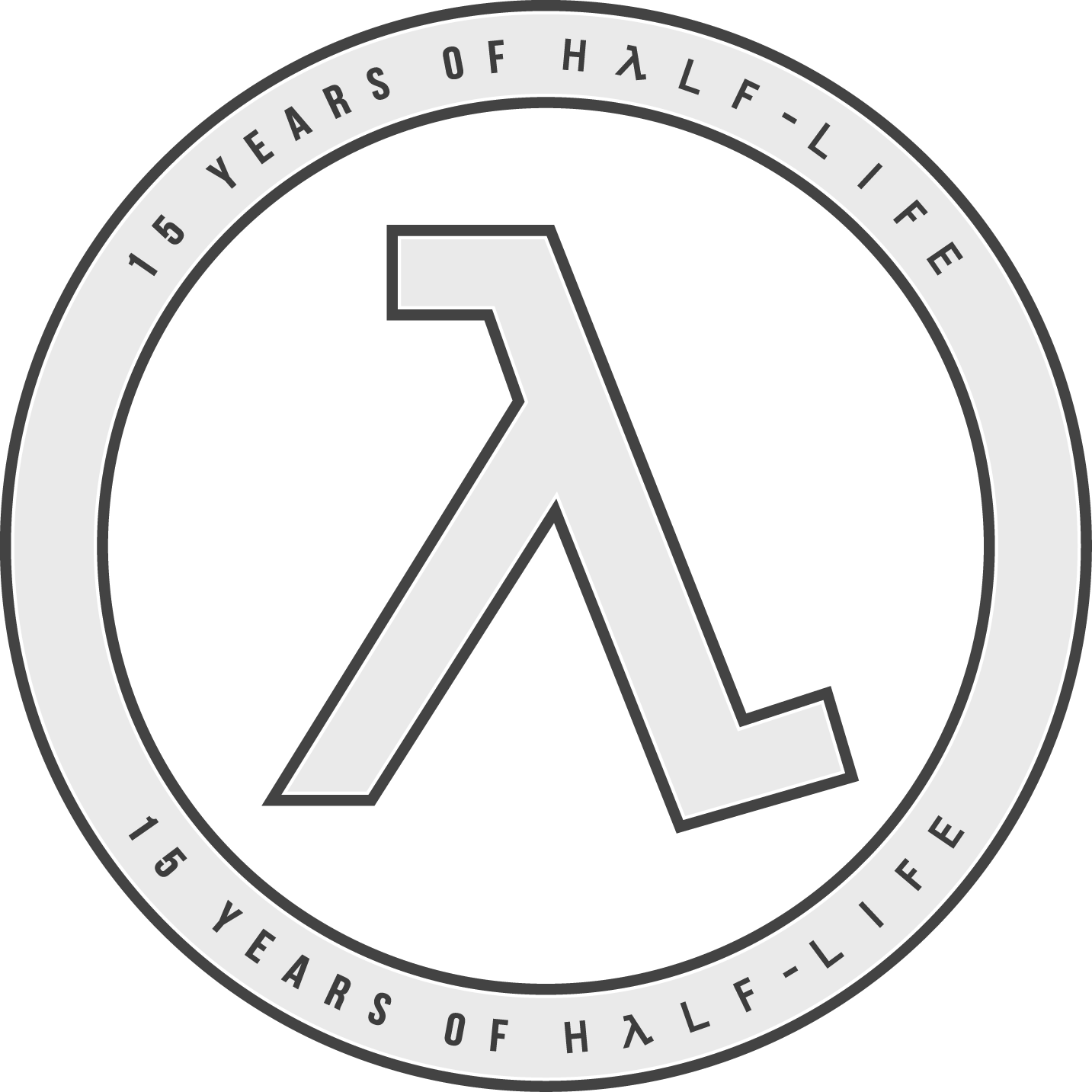 15 Years of Half-Life Logo - Light