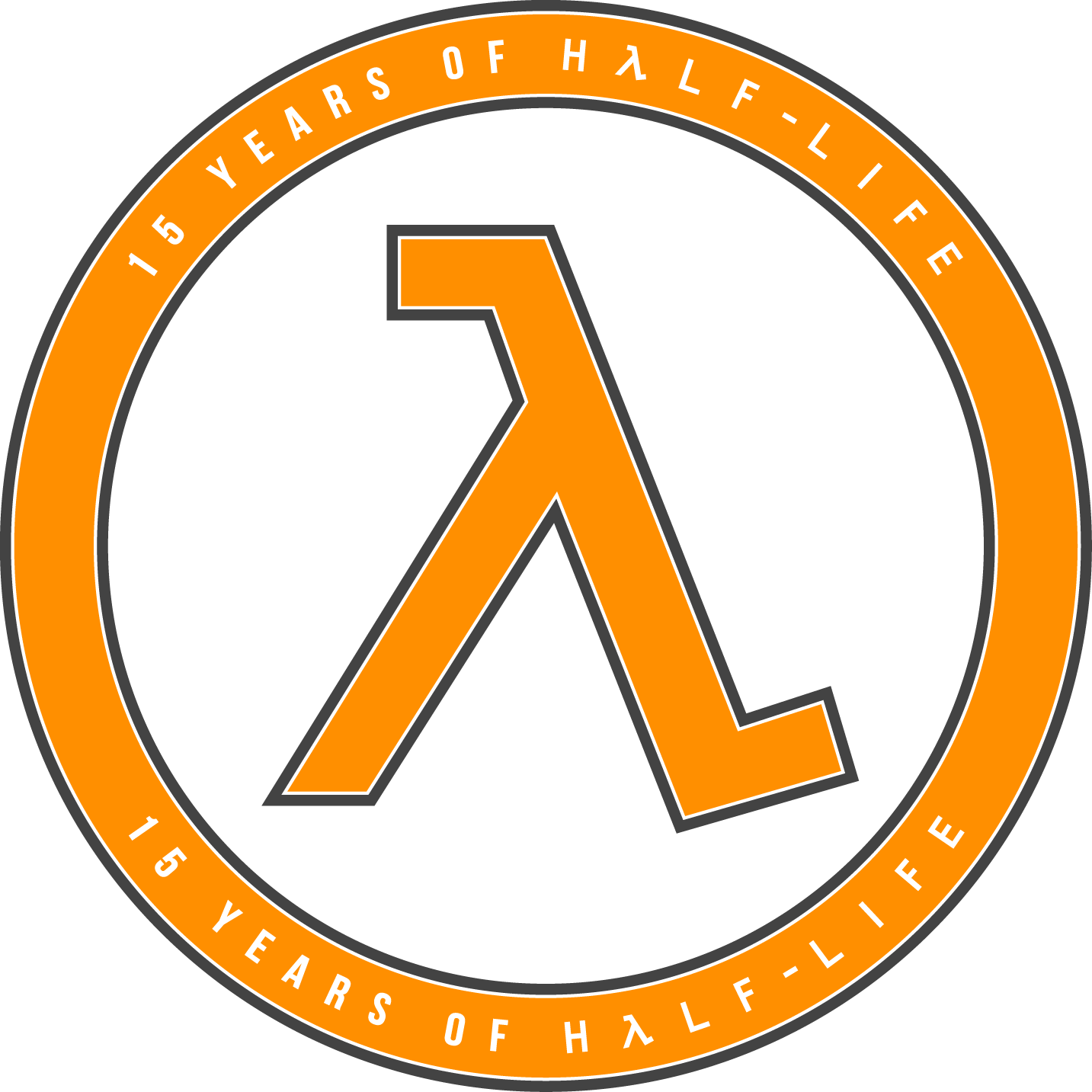 15 Years of Half-Life Logo - Orange
