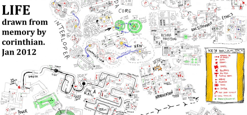 An Entire Map Of Half-Life 1… Drawn From Memory; And More Half-Life Cartography