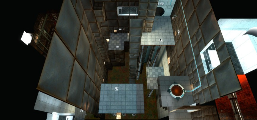 The basics of level design at its most undisguised in Portal