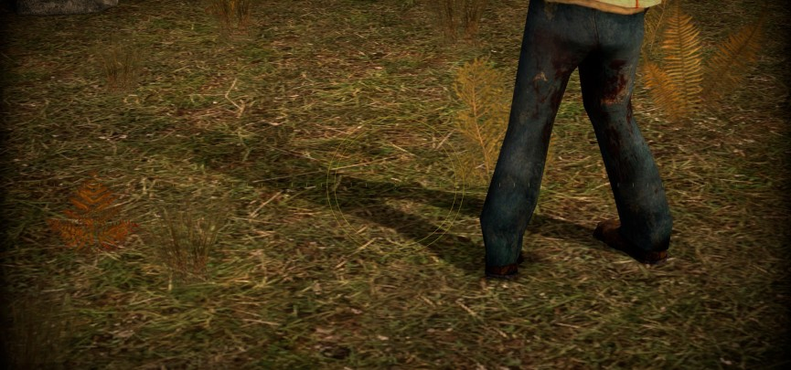 A dynamic shadow on an NPC in Episode Two.