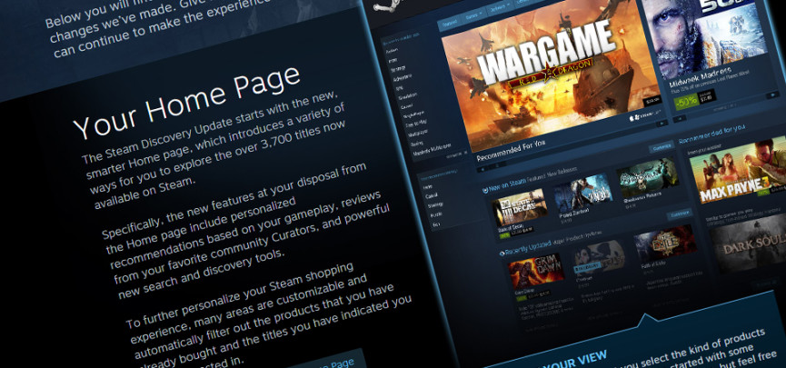 A Smarter Storefront – Steam Discovery Update