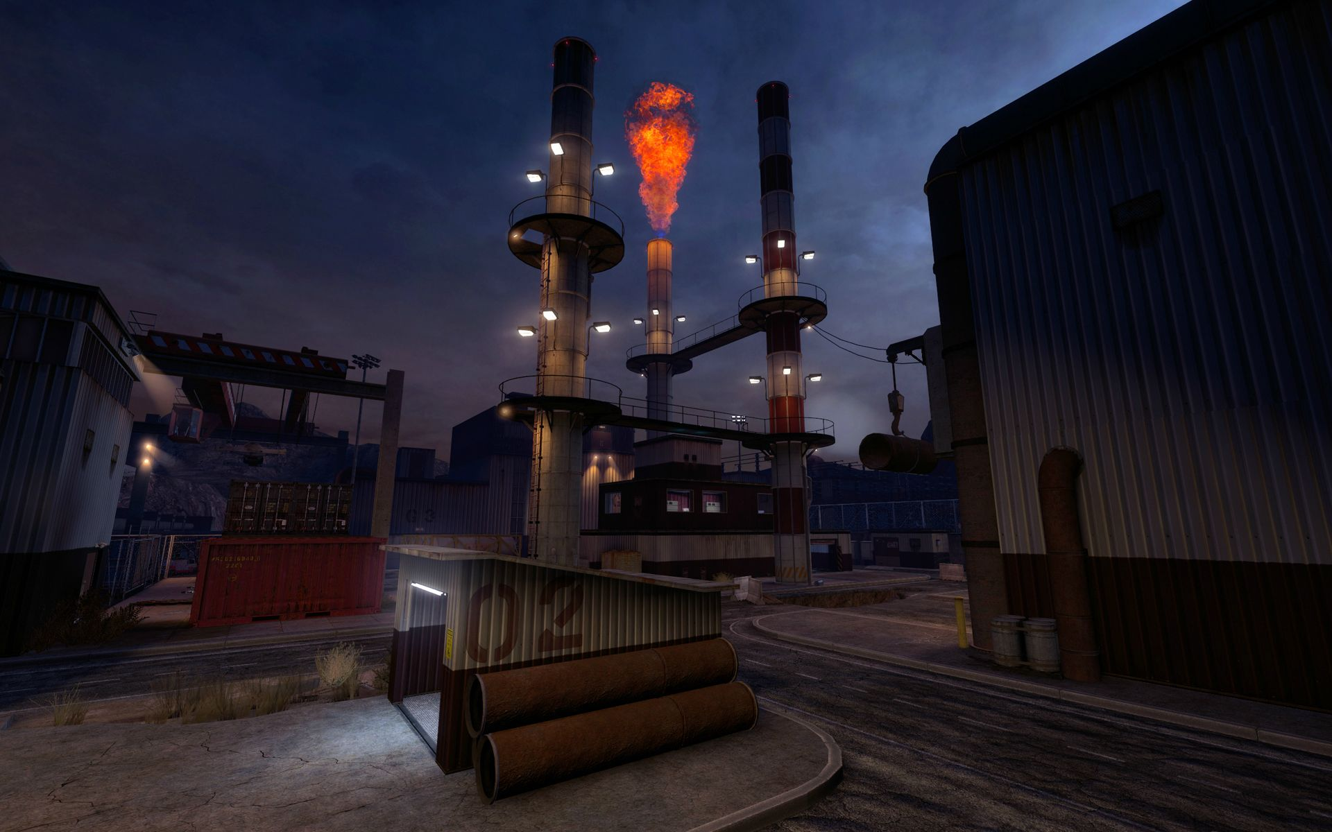 Half Life 1 Stalkyard Map - lonestarxsonar