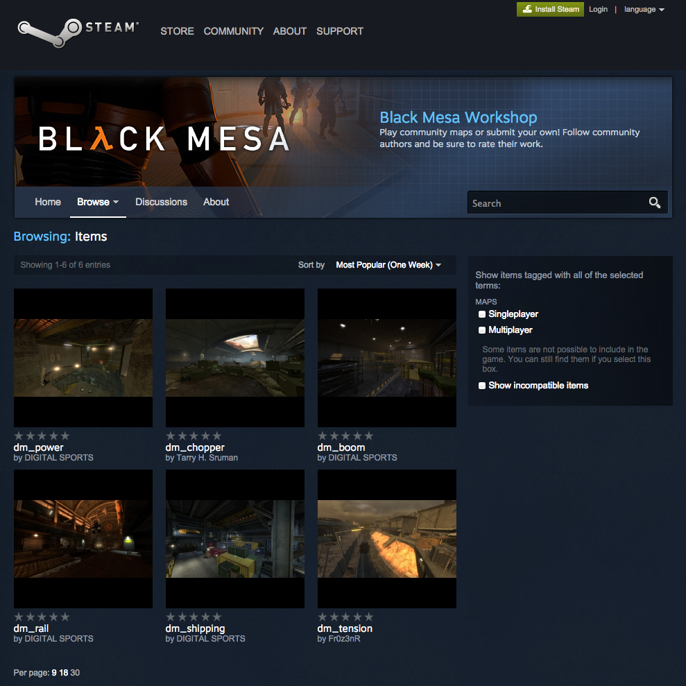 Black Mesa Steam Workshop