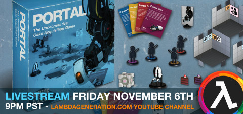 Did You Know About the New Portal Board Game? Livestream Playthrough on the LambdaGeneration YouTube Channel