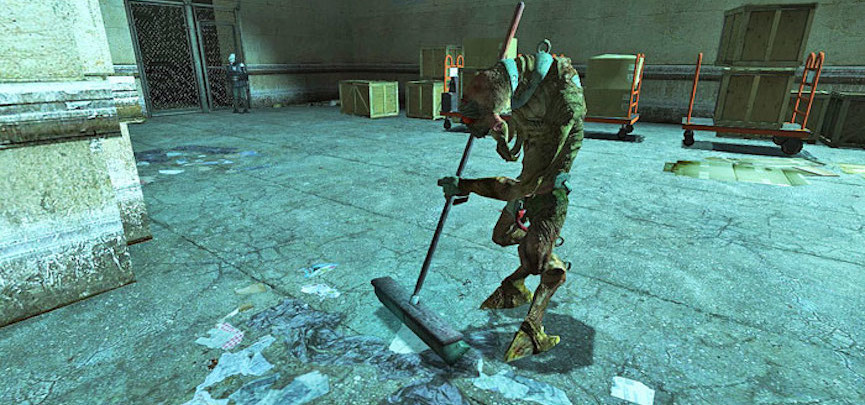 Vortigaunt sweeping in Half-Life 2