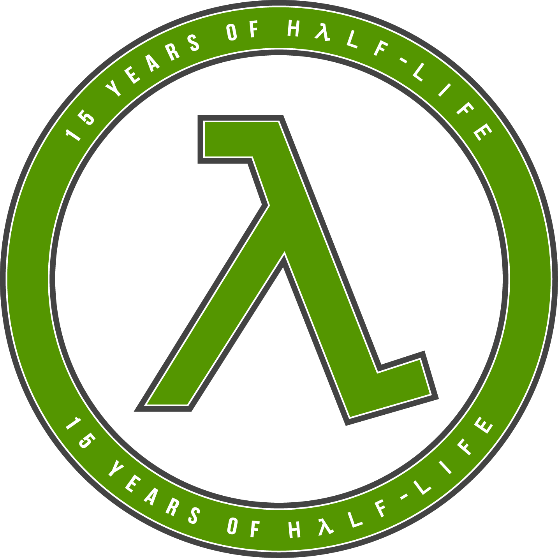 15 Years of Half-Life Logo - Green