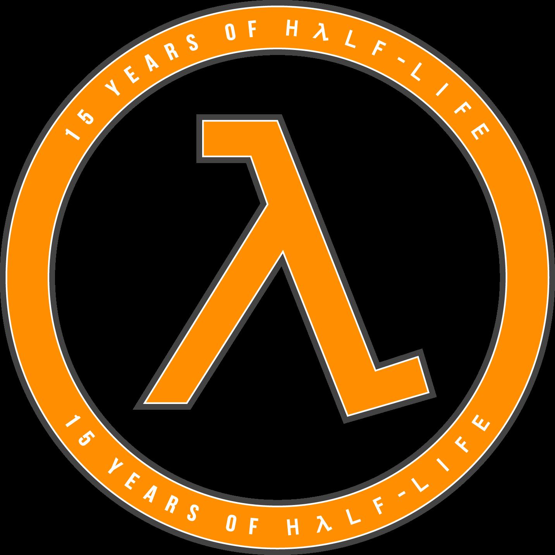 15 Years of Half-Life Logo - Orange