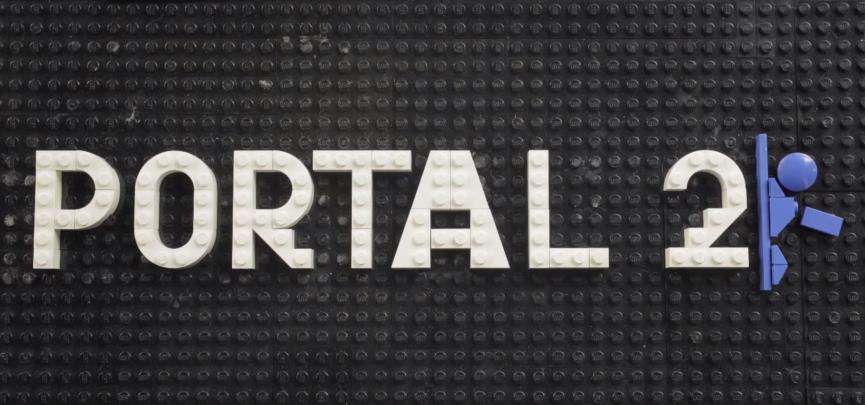 The Portal 2 Logo made in Lego!