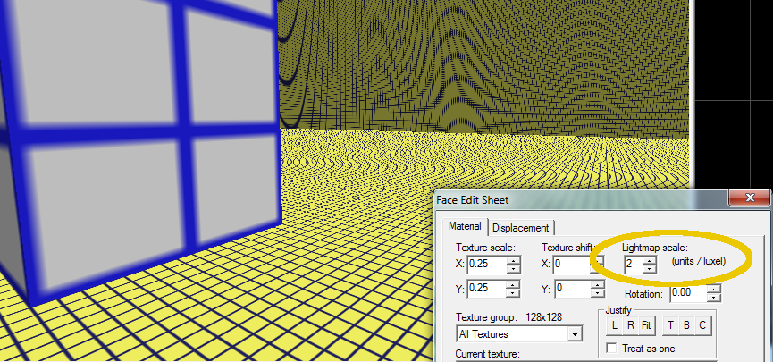 A compromise somewhere between these two lightmap scales could be more efficient.