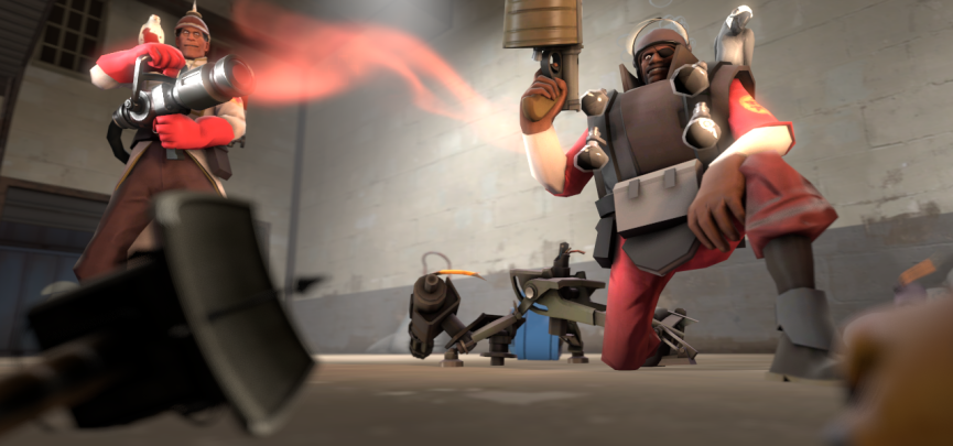 Playing Medic in Team Fortress 2