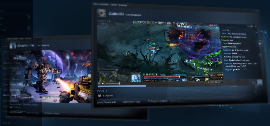 Steam Broadcasting Beta Released