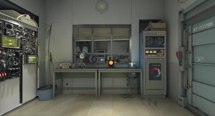 A screenshot of the maintenance room from the demo
