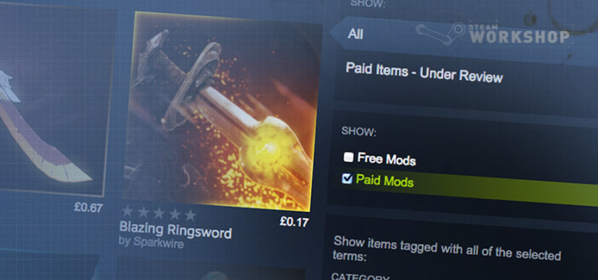 Valve Is Now Offering Mod Makers the Opportunity to Sell Their Work on the Steam Workshop