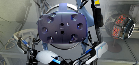 Meet ATLAS Face to Face in Valve's Aperture Science VR Demo