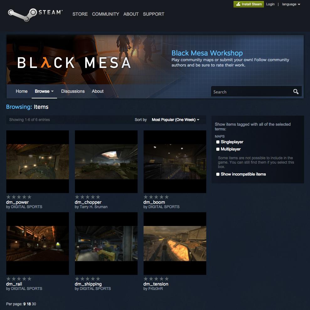 Black Mesa Steam Workshop