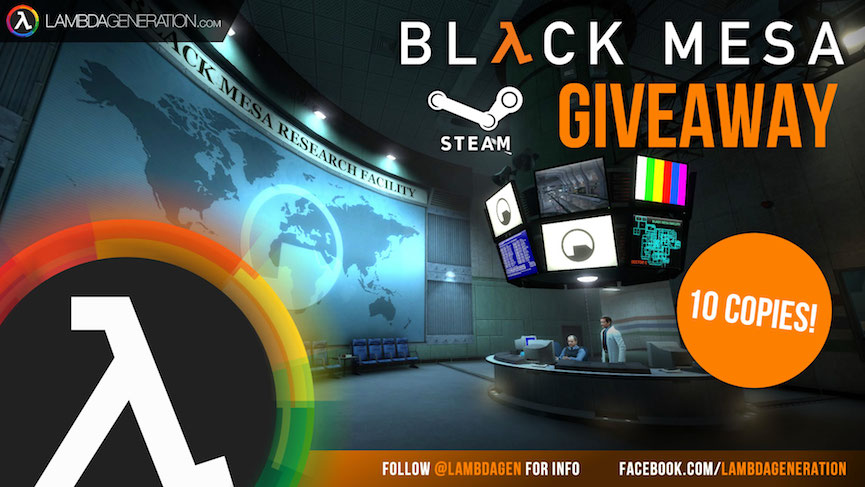 LambdaGeneration.com Black Mesa Giveaway